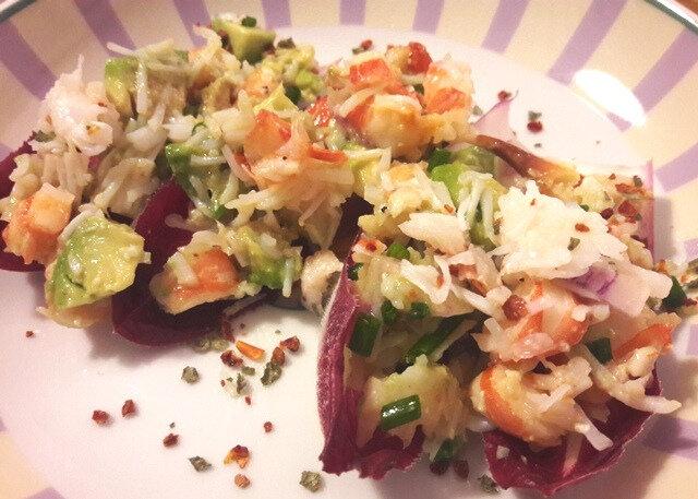 barquettes crevettes-avocat-crabe (1)