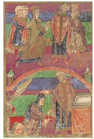 Radegonde et l'évêque Médard