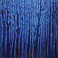 Forêt #55 (les bleus de l'hiver), 2013, acrylique sur toile, 80 x 80 cm