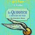La bibliothèque pour jeunes sorciers du monde de harry potter: le quidditch à travers les âges de kennilworthy whisp