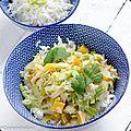 Curry vert végétarien de la box simply you