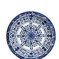 A rare large blue and white 'bajixiang' dish, yongzheng six character mark and of the period (1723-1735)