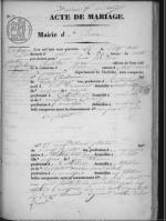 Acte mariage Chalencon Plantin 1846