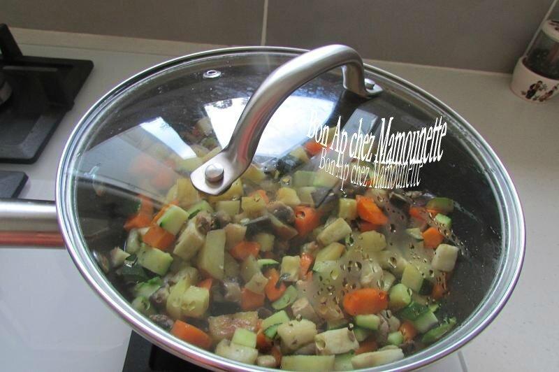 légumes naturels au rôti de porc fermier 011