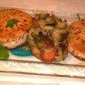 Le thon grilé frais et zaalouk d'aubegines