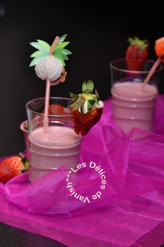 smoothie, vitamines, fruit, fraise, banane