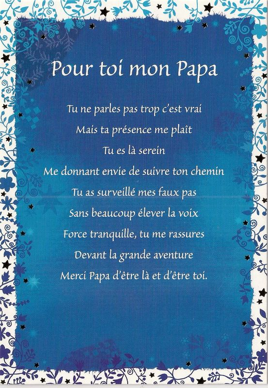 Merci papa poeme