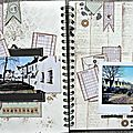 Family diary, deux doubles pages