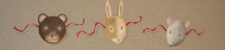 Masques ours-lapin-souris