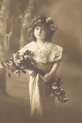 meisje met bloemen orgineel groot