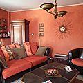 réfection de tous les coussins du canapé, assises comprises