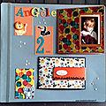 Album photos - page un peu spéciale - une photo peut en cacher une autre - angèle 2 ans
