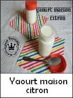 yaourt maison citron