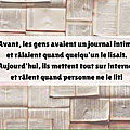 Journal intime...