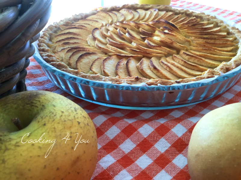 tarte pommes creme d'amande compote 046