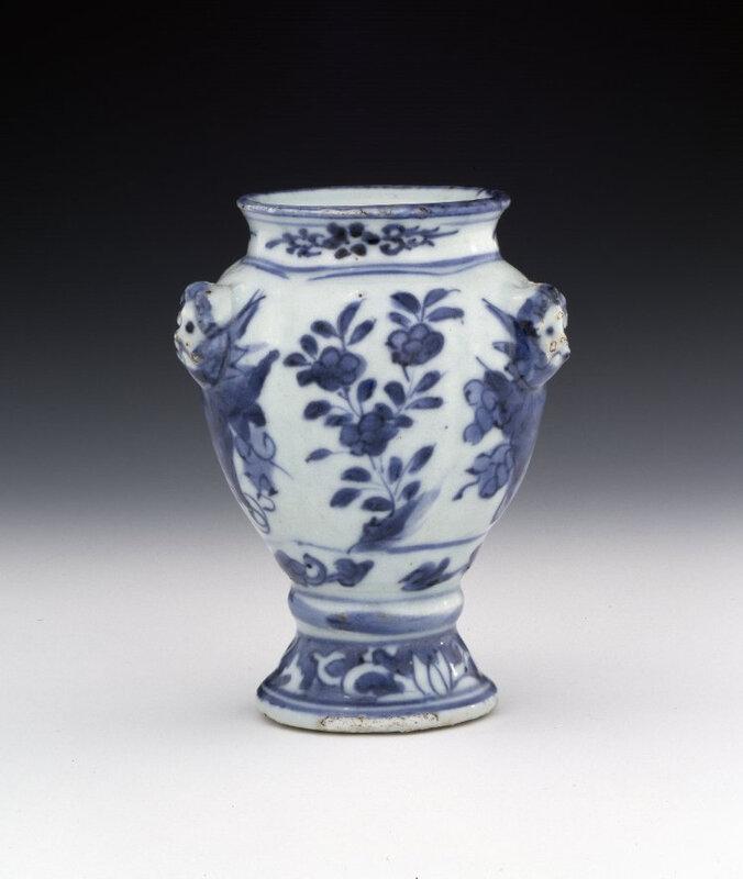 Porcelain jar with underglaze blue and applied decoration, Ming dynasty, circa 1610-1630; 12