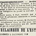 1919 1//2 décembre : un accident de bicyclette