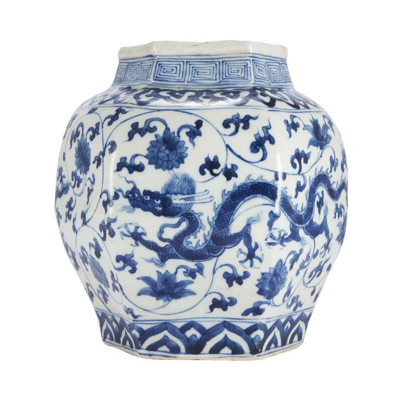 Chinese Blue and White Jar. Zhengde four-character Mark and of t