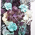 Tag mixed média so sweet turquoise et violet.
