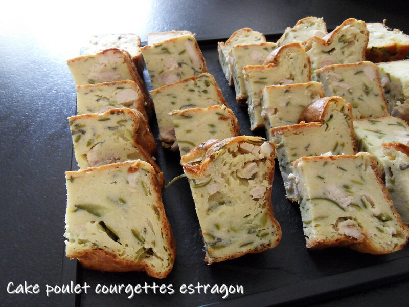 cake poulet courgettes estragon
