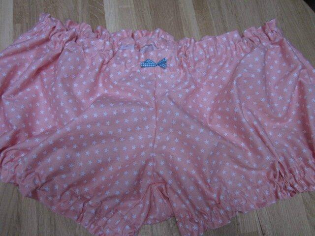 Culotte BIANCA en coton rose à pois blancs - neouf vichy turquoise (2)
