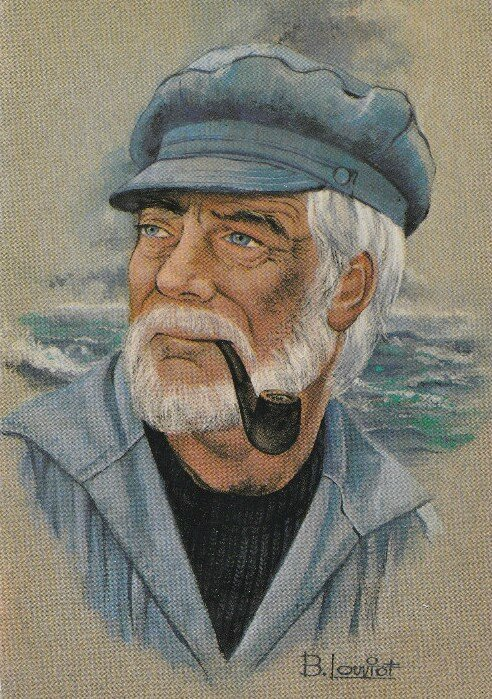 CPA Loup de mer Bernard Louviot