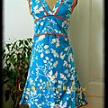 robe orange bleue