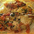 Darne de thon blanc à l'origan et aux oignons nouveaux