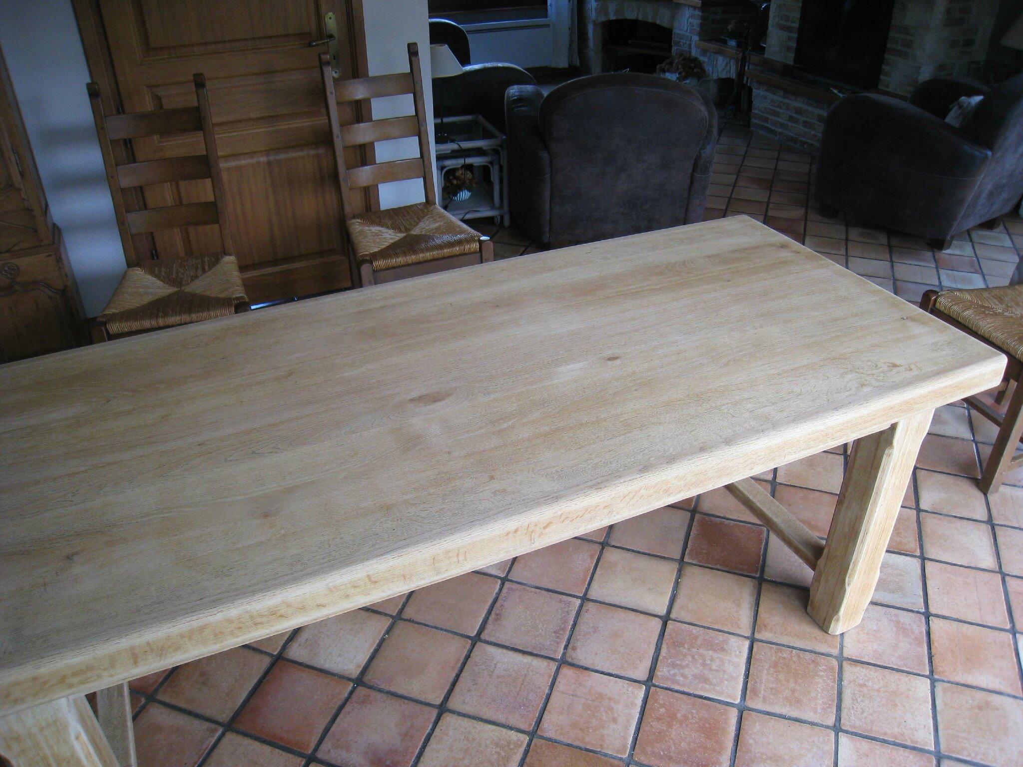 Comment Patiner Une Table eclaircir une table en chêne - patines & couleurs