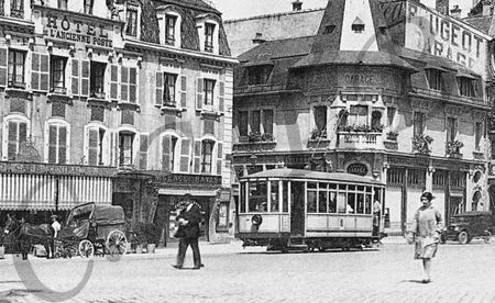 CPA Tramway 1922-28a Place Corbis CCTB