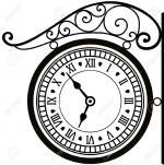 10343589-horloge-rue-r-tro-Banque-d'images