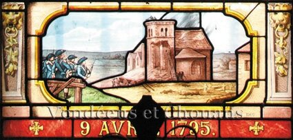Chanzeaux vitrail du clocher 2