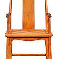 A huanghuali yokeback armchair, 17th century