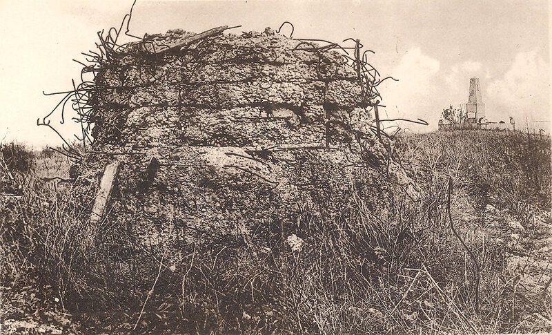 14 abri et monument du 3e Bataillon du 74e RI qui perdit 72% de son effectif