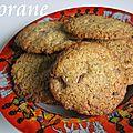 Cookies noix de coco et chocolat au lait