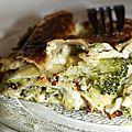 Gratin de brocolis et ravioles