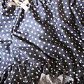Culotte BIANCA en coton marine imprimé étoiles beige - noeud beige et chocolat (1)