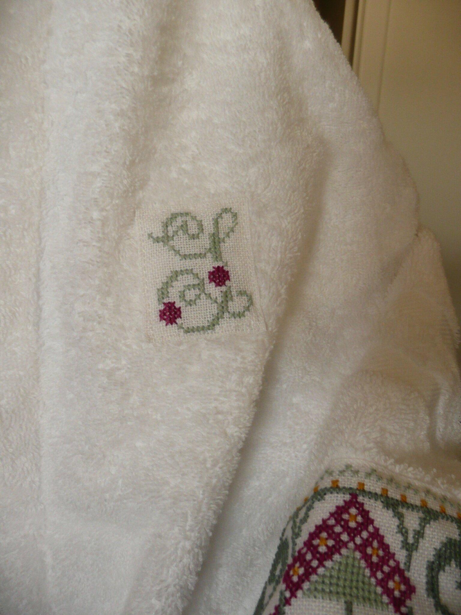 initiale peignoir de bain