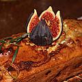 Cake d'automne figue, noix, chevre, jambon et estragon