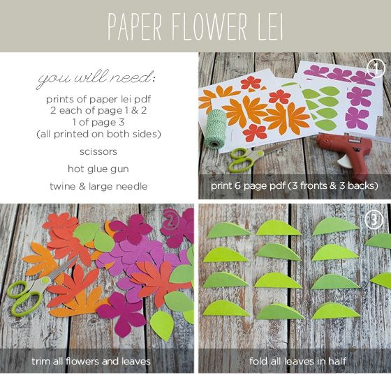 PaperFlowerLeiTutorial1