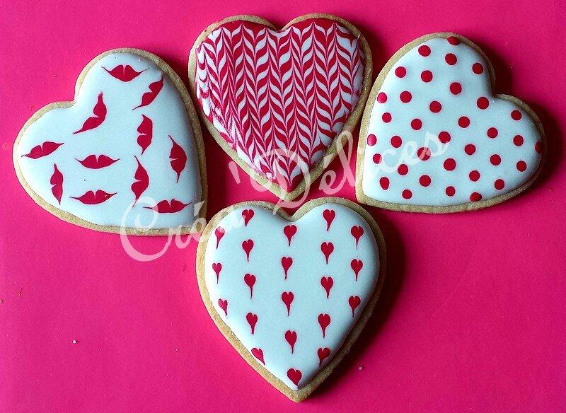 Biscuits décorés Coeur 1
