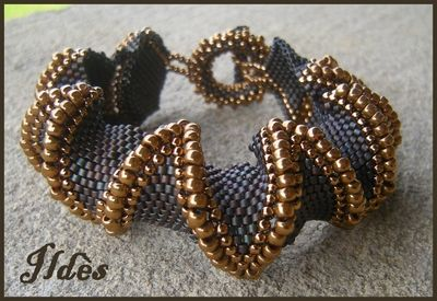 bracelet_jagged_marron_dor__1