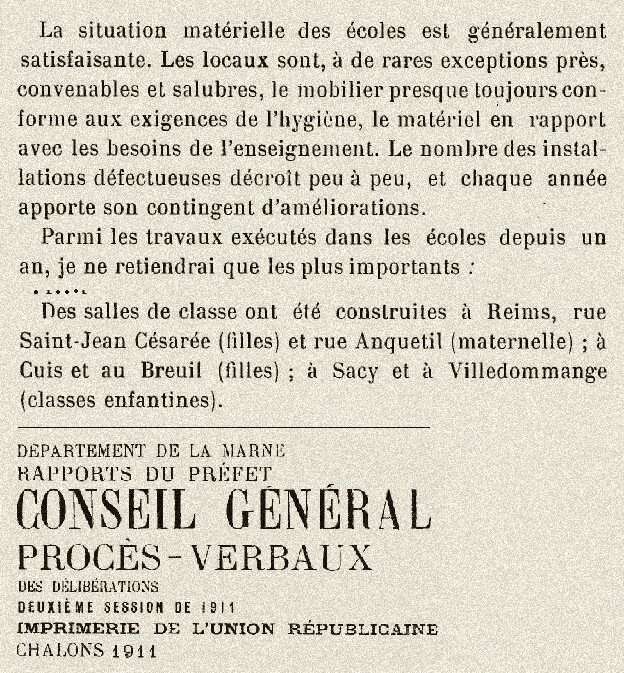 1911 classe enfantine