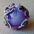 N°23 - bague ronde violette
