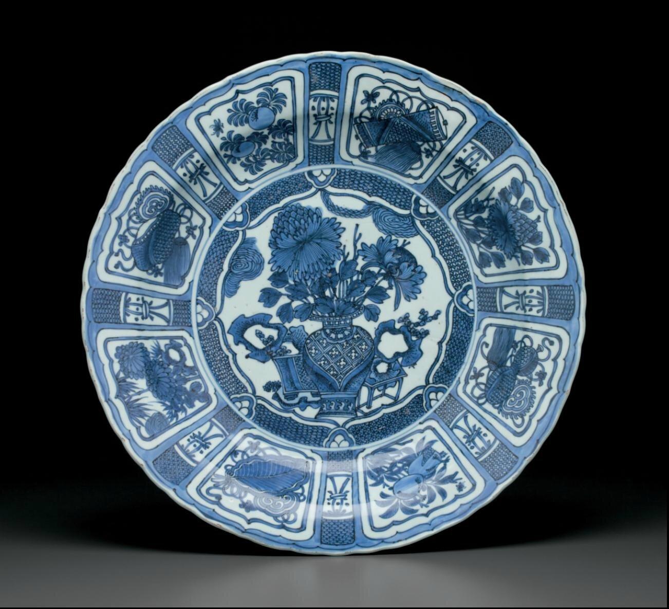 A largeKraakporcelain dish, Wanli period (1573-1619)