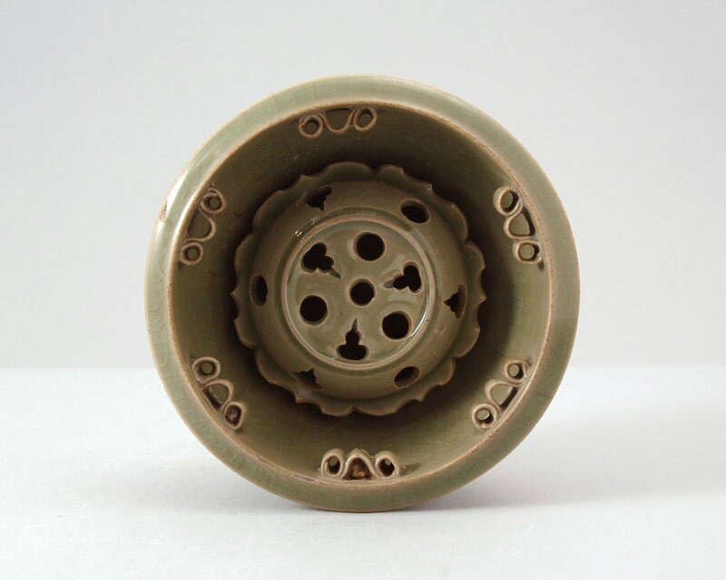 Greenware flower holder, Yaozhou kilns, 11th-12th century, China, Northern Song dynasty