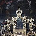 Combloux, église Saint-nicolas, retable, détail