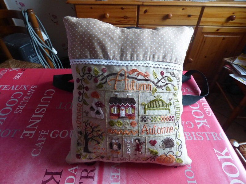 Sampler Automne coussin