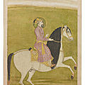 An equestrian portrait of aurangzeb, mughal india, circa 1700