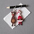 Boucles Père Noel et son Renne